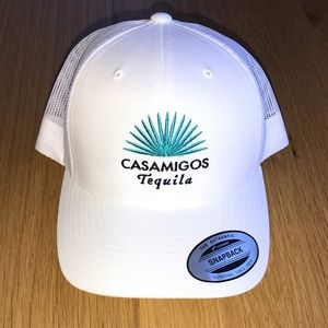 Casamigos Embroidered White SnapBack